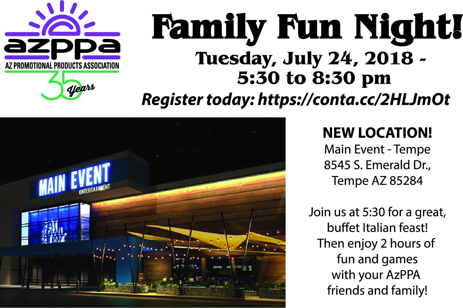Arizona Promotional Products Association - Family Fun Night